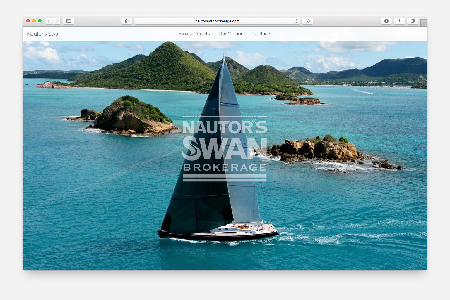 Nautor's Swan Brokerage new website